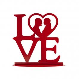 Topper para tartas con la palabra LOVE en rojo de 19 cm