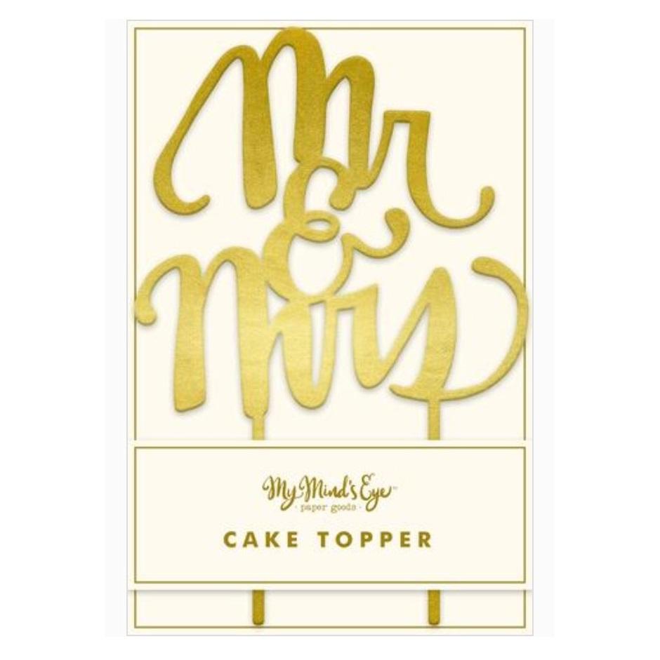 Topper para tartas de Boda Mr & Mrs