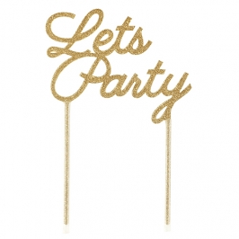 Topper para tartas Lets Party dorado