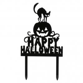 Topper Happy Halloween 12 x 10 cm