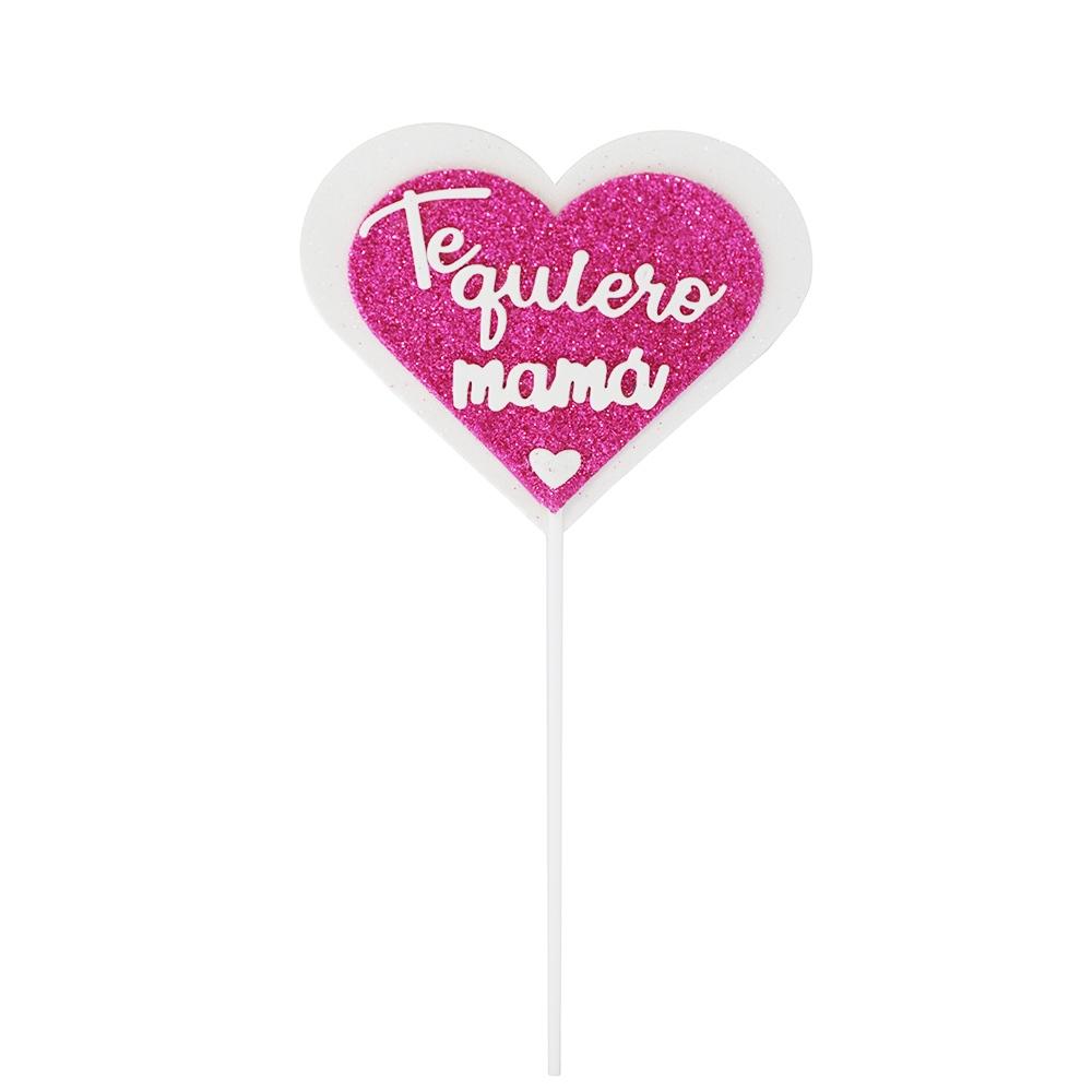 Decoración Corazón Te Quiero Mamá 11 cm
