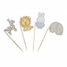 Toppers para Cupcakes y Dulces Baby Miffy (20 uds)