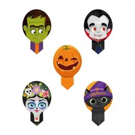 Toppers de Oblea Halloween para Dulces 20 ud