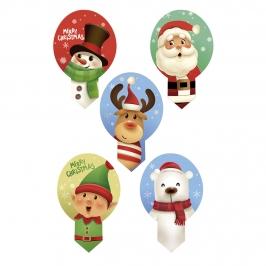 Toppers de Oblea Navidad para Dulces 20 ud