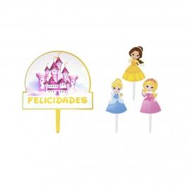 Toppers para Tarta Princesas 4 ud