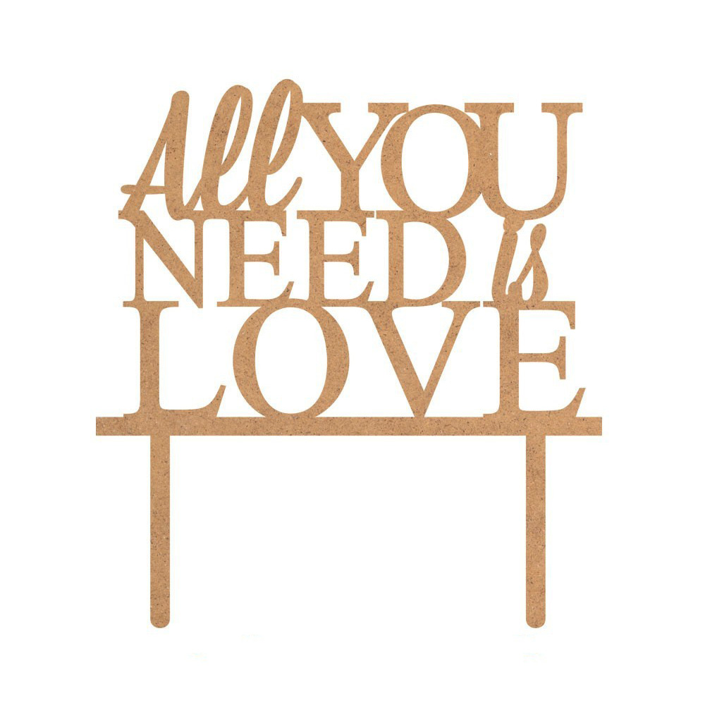 Topper para Tarta All You Need is Love