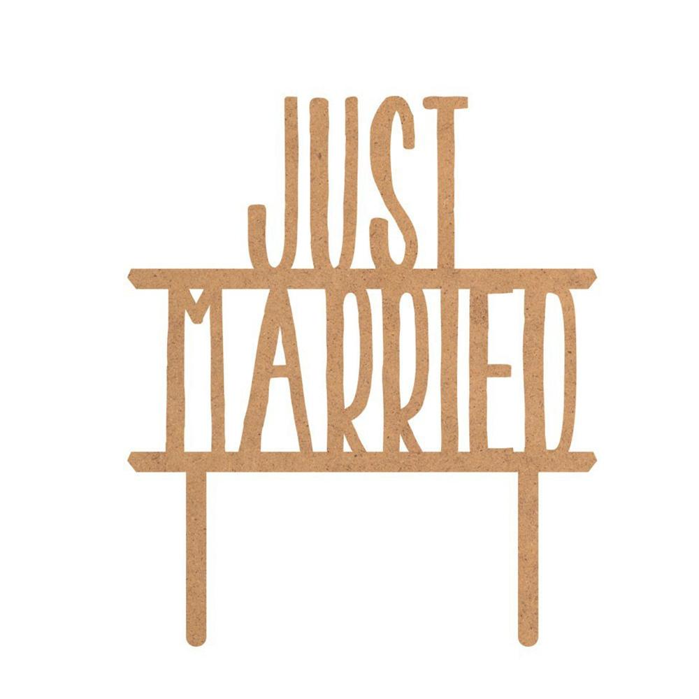 Topper para Tarta Just Married