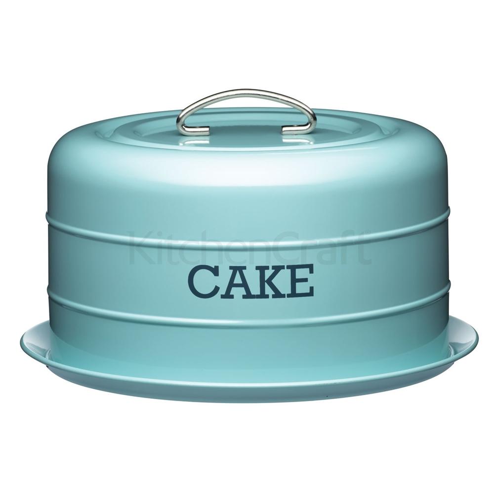 Transportador de tartas vintage azul