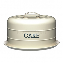 Transportador de tartas vintage crema