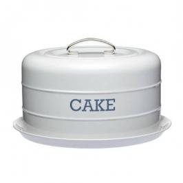 Transportador de tartas vintage gris