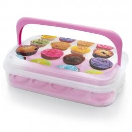 Transportador de Cupcakes con Bandeja Reversible