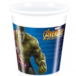 Juego de 8 vasos Vengadores Infinity War 200 ml