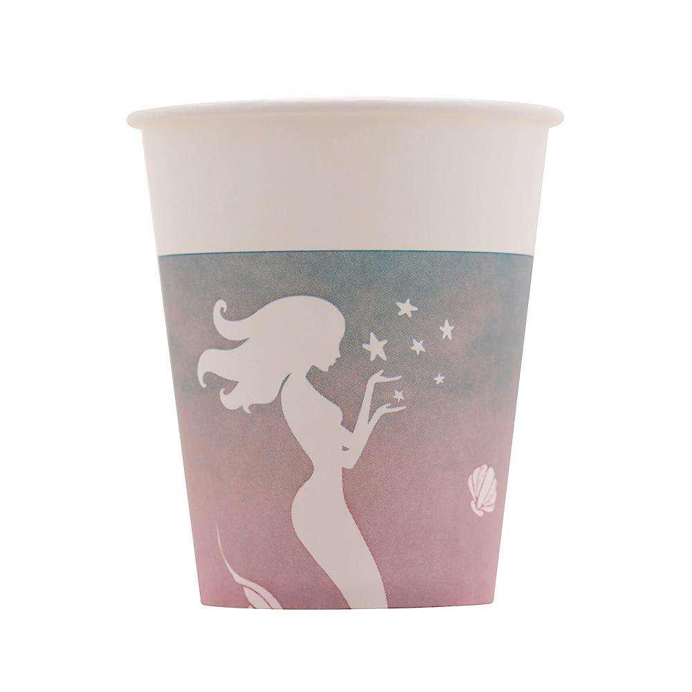 Juego de 8 Vasos Sirena Azul y Rosa