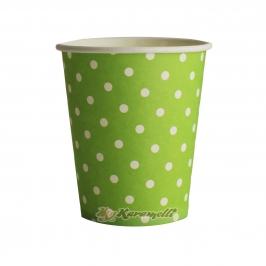 Juego de 10 vasos de Papel Green Polkadot