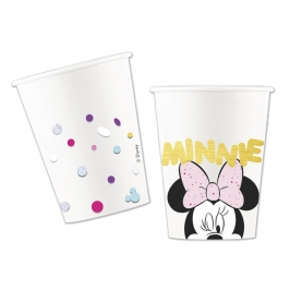 Vasos cartón Minnie Mouse