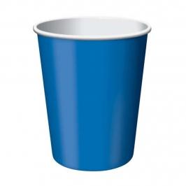 Vasos de Papel Azul Intenso 350 ml 8 ud