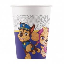 Vasos de Papel Compostables Patrulla Canina 200 ml 8 ud
