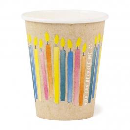 Vasos de Papel Cumpleaños Eco 250 ml 8 ud