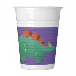 Vasos de Plástico Dinosaurio Roar 200 ml 8 ud