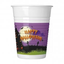 Vasos de Plástico Happy Halloween 8 ud