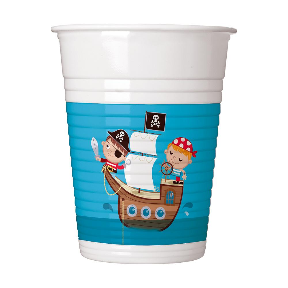 Vasos de Plástico Tesoro Pirata 200 ml.