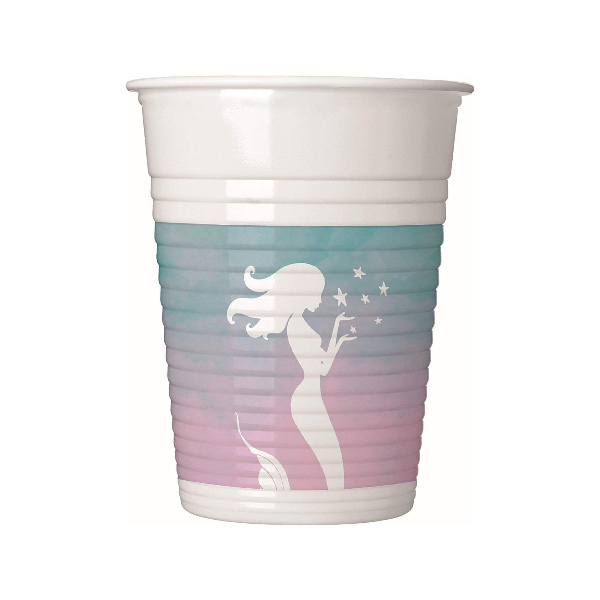 Juego 8 Vasos Sirena Azul y Rosa