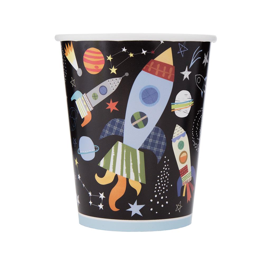 Juego de 8 Vasos Espacio Estelar