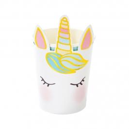 Vasos Cara de Unicornio 8 ud