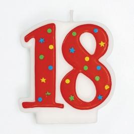 Vela 18 Años Estrellas y Puntos