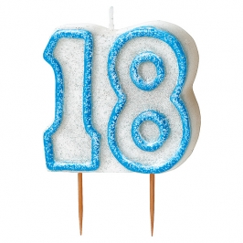 Vela 18 Cumpleaños Azul