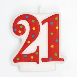 Vela 21 Años Estrellas y Puntos