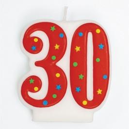 Vela 30 años Estrellas y Puntos
