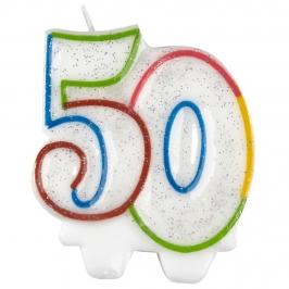 Vela 50 Años Multicolor
