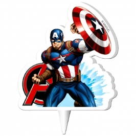 Vela Capitán América 9,5cm