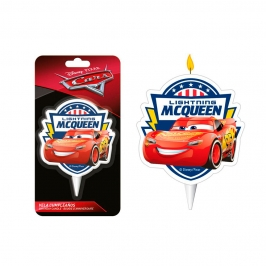 Vela Cumpleaños Cars 2D