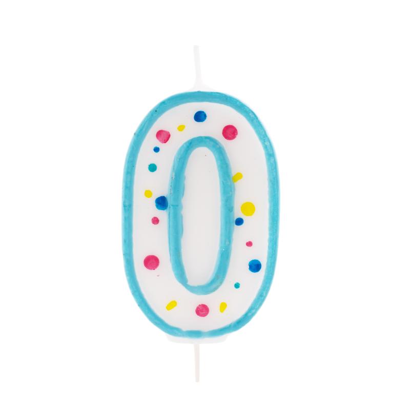 Vela de cumpleaños 0 Azul - My Karamelli