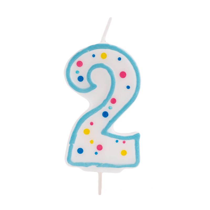Vela de cumpleaños 2 Azul - My Karamelli