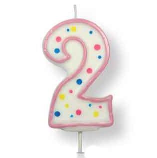 Vela de cumpleaños 2 rosa