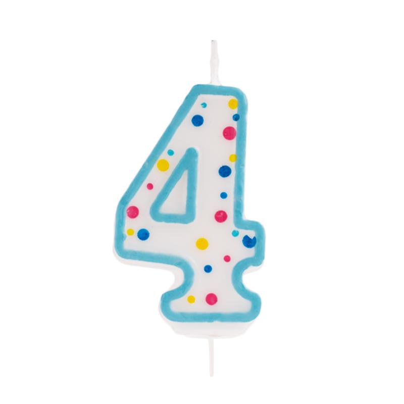 Vela de cumpleaños 4 Azul - My Karamelli