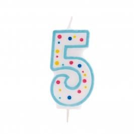 Vela de cumpleaños 5 Azul - My Karamelli