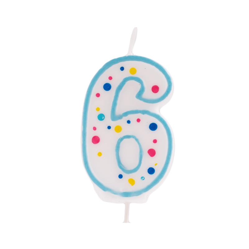 Vela de cumpleaños 6 Azul - My Karamelli