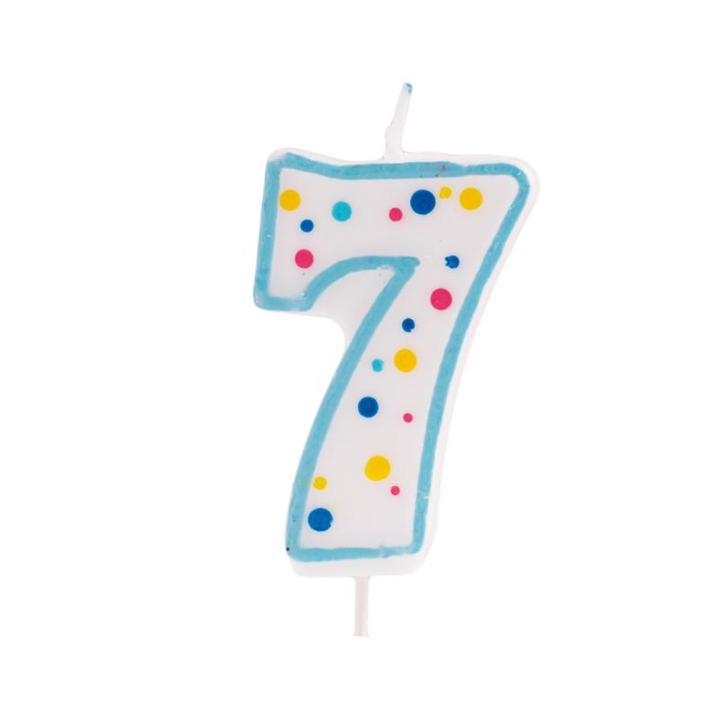 Vela de cumpleaños 7 Azul - My Karamelli