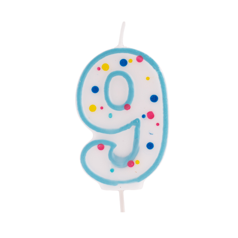 Vela de cumpleaños 9 Azul - My Karamelli