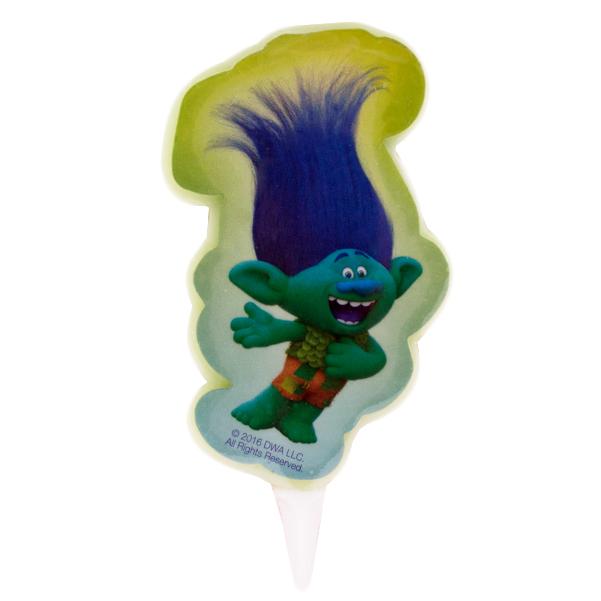 Vela de Cumpleaños Branch 2D Trolls - My Karamelli