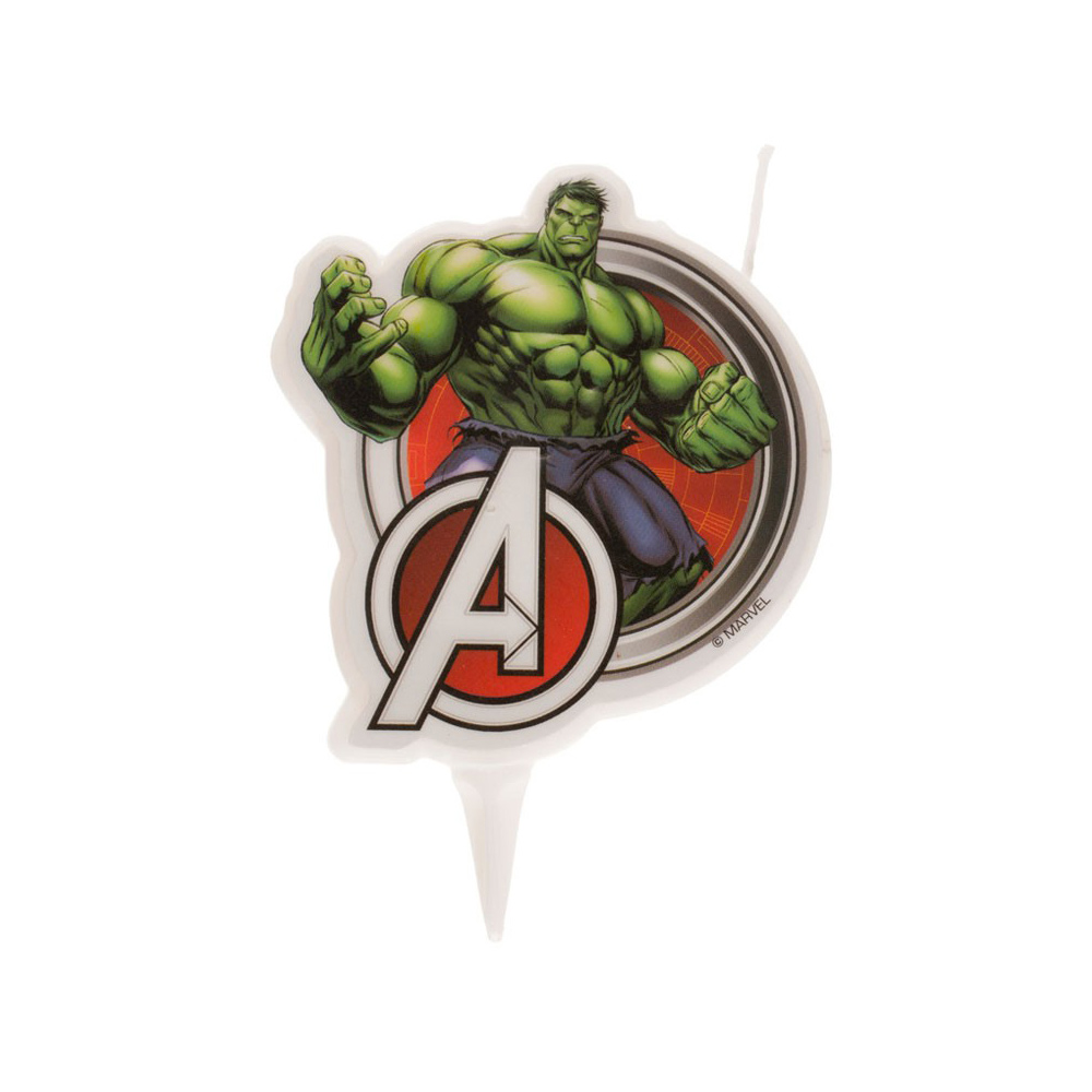 Vela de Cumpleaños Hulk 9 cm