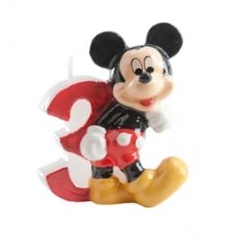 Vela de cumpleaños Mickey Nº 3