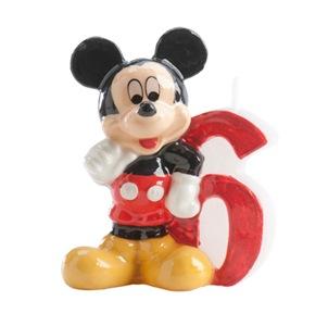 Vela de cumpleaños Mickey Nº 6