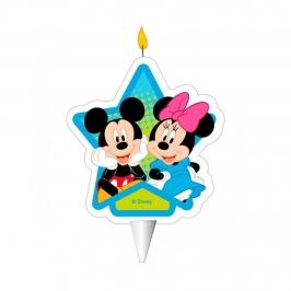 Vela de Cumpleaños Mickey y Minnie 7 cm