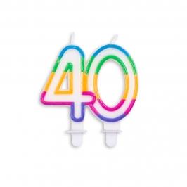 Vela de Cumpleaños Multicolor 40