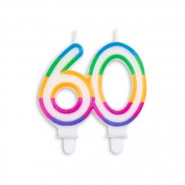 Vela de Cumpleaños Multicolor 60